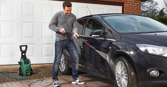 Máy rửa xe mini ngoài rửa xe có thể rửa sân vườn, vệ sinh nhà cửa