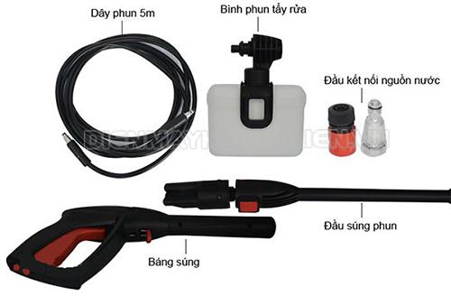 Sử dụng phụ kiện máy rửa xe giúp tăng hiệu quả phun rửa