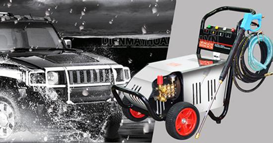 Máy rửa xe cao áp Lutian với áp lực nước mạnh cho khả năng phun rửa tốt