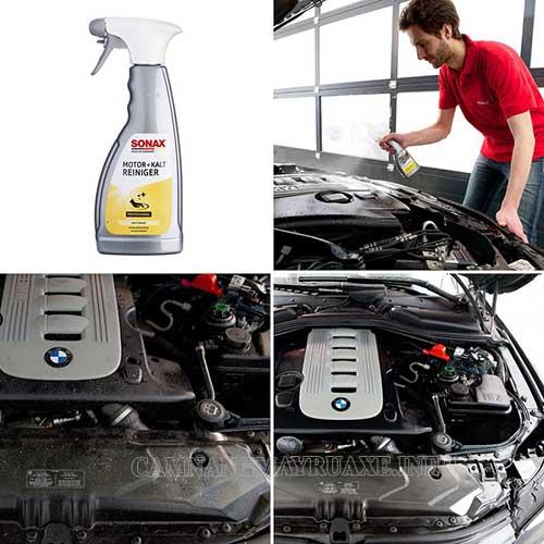Sonax là thương hiệu nước rửa xe nổi tiếng của Đức