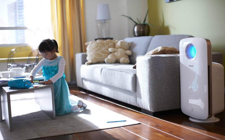 máy hút ẩm giúp ngăn chặn ẩm móc vi khuẩn trong phòng