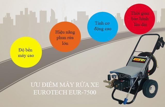 Máy bơm rửa xe Eurotech EUR-7500