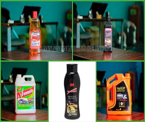 Một số loại nước rửa xe phổ biến hiện nay