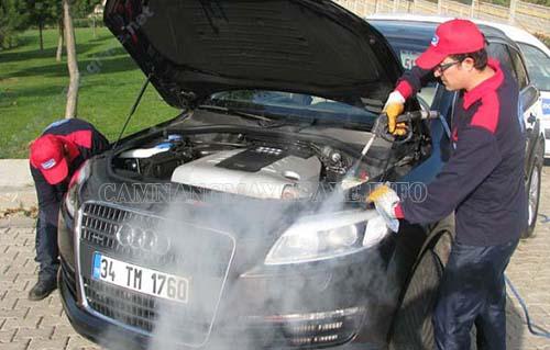 Công nghệ rửa xe hơi nước nóng giúp làm sạch hiệu quả mà không gây hại cho xe