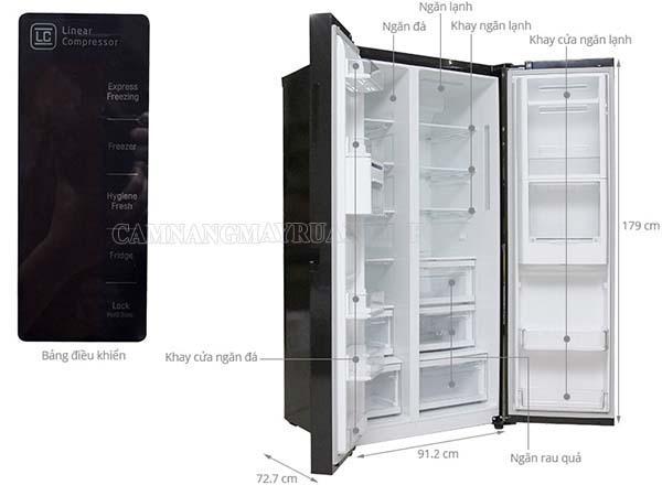 Tủ lạnh 4 cánh LG được mọi người ưa chuộng