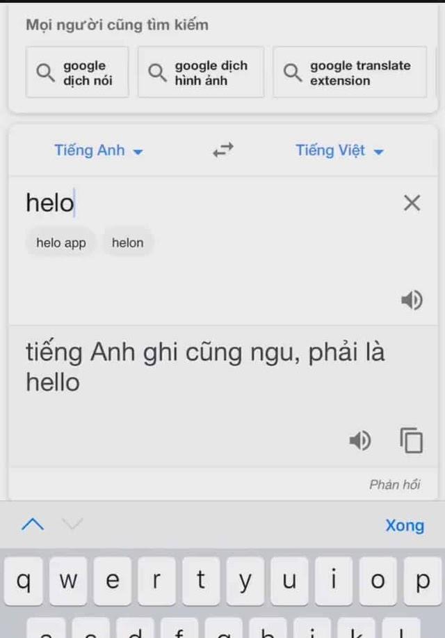 google dịch nói bậy là gì